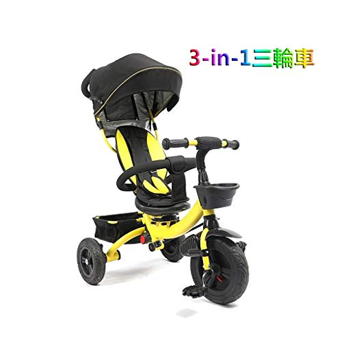 Best Buy! GYF Bi-Directional Rotation seat Baby Bicycle seat Belt Boys and Girls Gift Yellow That is...
