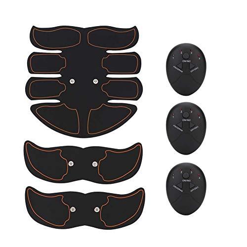 EMS Estimulador muscular Estimulador muscular eléctrico Masajeador Equipo de ejercicio Dispositivo de entrenamiento de tonificación abdominal portátil inalámbrico para hombres y mujere
