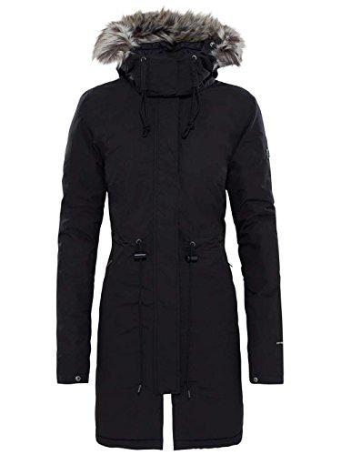 North Face Zaneck Parka - Chaqueta para Mujer, Negro (TNF Black/Vintage White),...