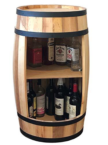 weeco - Carpa Decorativa de Madera Maciza como Mesa de 80 cm, con Caja de Vino (Aceite)