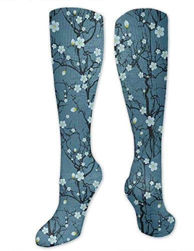winterwang Calcetines de compresin plidos Sakura Tree Branches para mujeres y hombres: los mejores calcetines mdicos, de enfermera, de viaje y de vuelo