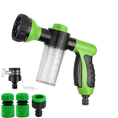 QEUhang Spray Nozzle for Garden Hose, High Pressure Foam Washer Car Water...