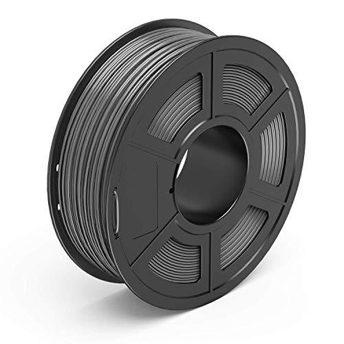 Ankun - Filamento PETG per stampante 3D da 1,75 mm, bobina da 1 kg, accuratezza dimensionale +/- 0,02 mm, Grigio, 0