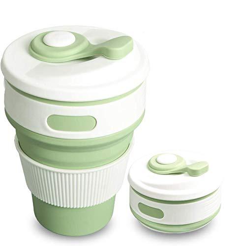 SLACTech Tazas de Café Plegable, 350 ML caño Seguro Plegable Taza y práctico Taza de Viaje portátil para Viajes, Camping, Ciclism