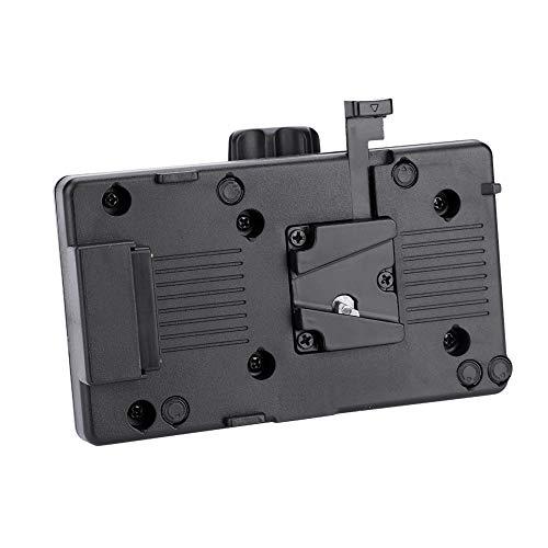 EBTOOLS Adaptador de batería de cámara, Adaptador de Placa de alimentación de batería de Montaje en V con D-Tap y Abrazadera para videocámara Sony DSLR (Negro)