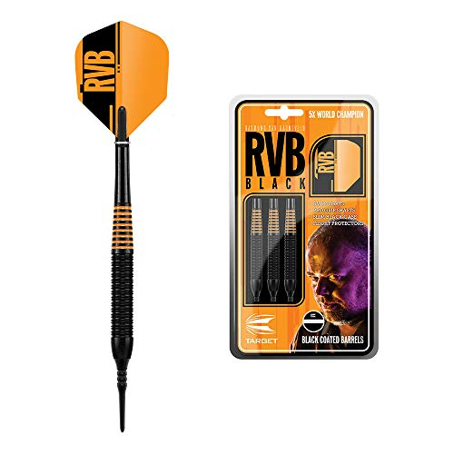 Target Darts Raymond Van Barneveld RVB Schwarzes 19G Messing Steeldarts Dartpfeile-Set