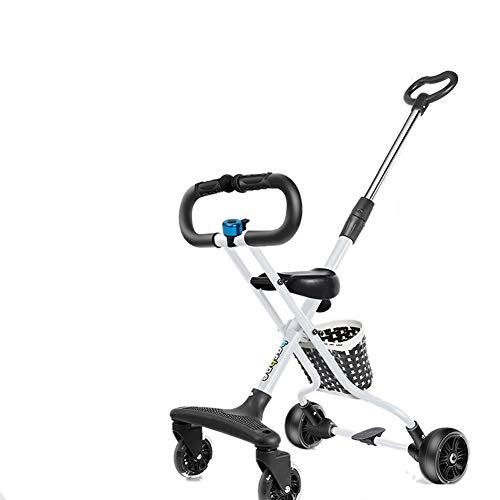 Bébé GUO@ Corps en Alliage D'Aluminium pour Enfants Tricycle Chariot Pliable PréVention du Renversement Portable Poussette Enfant Simple 1-6 Ans Porte