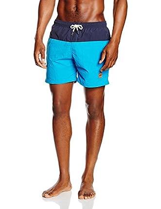 Urban Classics Block Swim Shorts Bañador, Multicolor (Nvy/Turquoise), Medium para Hombre