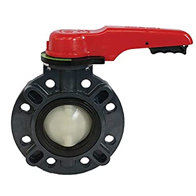"""Asahi America Type 57 PVC Butterfly Valve, Lever Handle, 2"""" Pipe Size by Asahi America"""