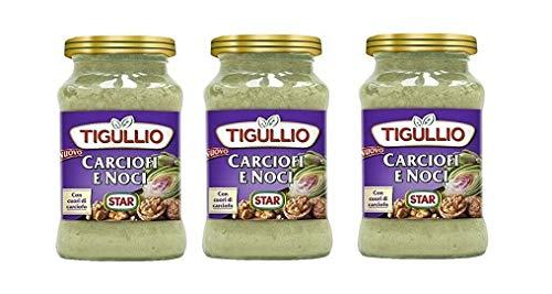 3x Star Tigullio Pesto Carciofi e noci Sauce Soße Artischocken und Nüsse 185g