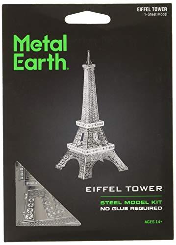 Fascinations Metal Earth MMS016 - 502554, Eiffelturm, Konstruktionsspielzeug, 1 Metallplatine, ab 14 Jahren
