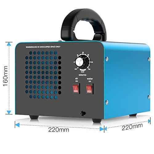 Generatore di ozono, dispositivo di ozono da 28000mg / h (con due modalità), purificatore d'aria industriale a ozono con timer, adatto per stanze, garage, agriturismi, può pulire fino a 300 mq