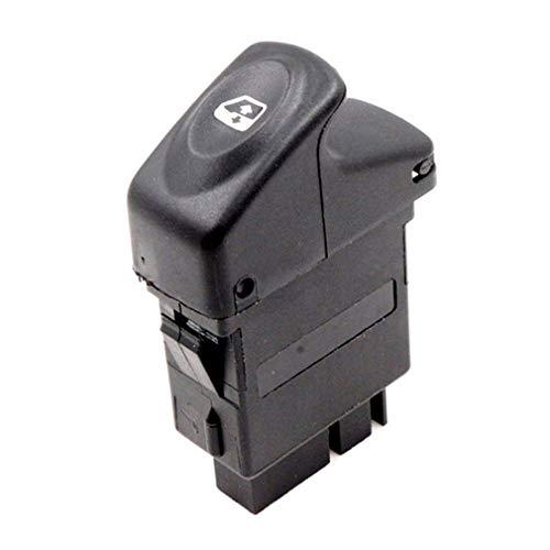 CandyTT Botón de Interruptor de Espejo de Ventana eléctrica para Renault Kangoo Megane Clio 7700838100 exquisitamente diseñado y Duradero (Negro)