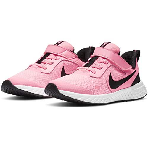 Nike Revolution 5 (PSV), Zapatillas para Correr Unisex niños, Sunset Pulse Black White, 35 EU