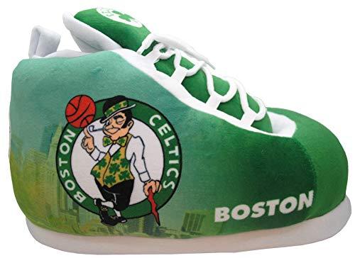Sleakers Boston Celtics Basketball Officially Licensed NBA Sneaker Shoe Slippers Unisex (Medium W 8-10 M 7-9)