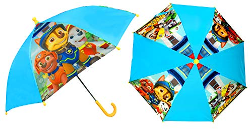 Paw Patrol Regenschirm für Kinder, Stockschirm, 69 cm, blau/gelb, Polyester