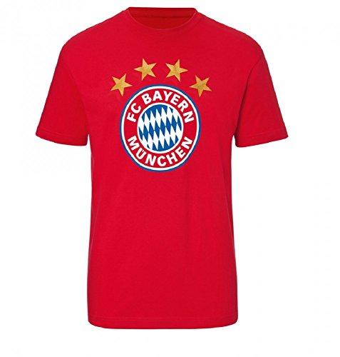 FC Bayern München T-Shirt Logo rot (L)