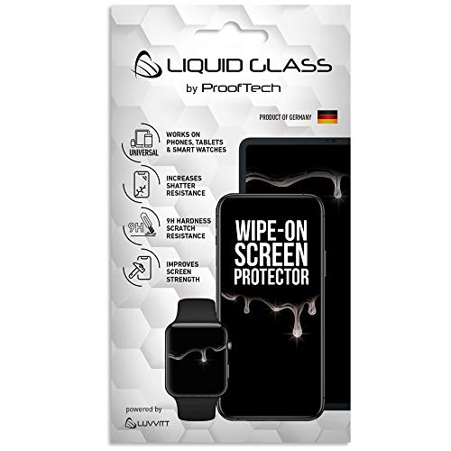 Luvvitt Liquid Glass Screen Protector for All Phones Tablets Watches Apple Samsung LG iPhone iPad Galaxy S20 S10 S9 Note 10 11 Plus Ultra Pro Max Nano Hi-Tech Protection