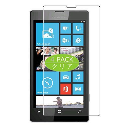 VacFun 4 Pezzi Trasparente Pellicola Protettiva Compatibile con Nokia Lumia 520, Screen Protector Protective Film Senza Bolle e Auto-Curativo (Non Vetro Temperato) New Version