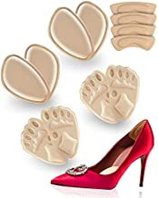 Metatarsal Pads for Women,Ball of Foot Cushions(4 Pairs Foot Pads and 2 Pairs Heel Pads ) Heel Inserts for Women Pain Relief