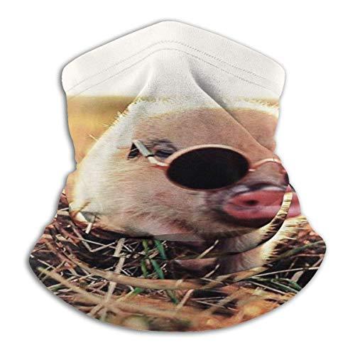 Leuke Pet Pig halsdoek met zonnebril, nekwarmer.