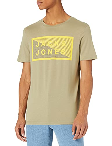 Jack & Jones Jcoshawn Tee SS Crew Neck Noos T-Shirt, Vert pétrole-Coupe : Slim, XXL Homme
