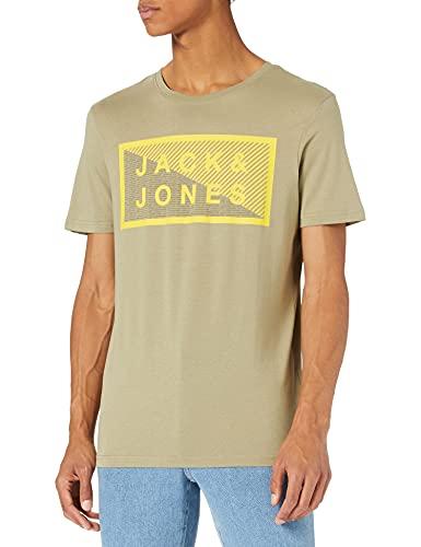 Jack & Jones Jcoshawn tee SS Crew Neck Noos Camiseta, Verde Aceite/Ajuste: Slim, XL para Hombre