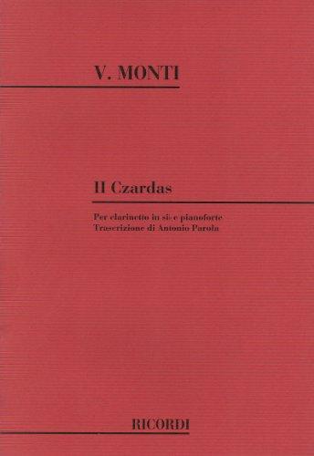 MONTI - Czardas nº 2 para Clarinete y Piano
