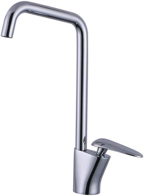 JFFFFWI Küchenvollkupfer Verchromung Hei und Kalt Dual Control Einhand 360 \u0026 deg; Schwenkbarer Wasserhahn