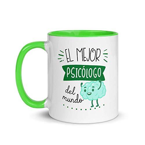 Kembilove Taza de Desayuno del Mejor Psicólogo del Mundo – Tazas de Café de Profesiones y Trabajadores para la Oficina – Tazas de Té para Profesionales – Taza de Cerámica 350 Ml