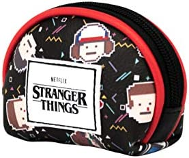 KARACTERMANIA Stranger Things 8 bits-Monedero Oval, Multicolor