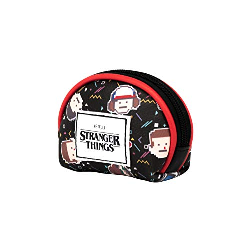 KARACTERMANIA Stranger Things 8 bits-Monedero Oval, Multicol