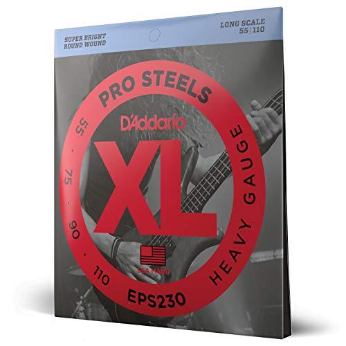 D'Addario EPS230 - Juego de cuerdas para bajo eléctrico de acero, 055'...