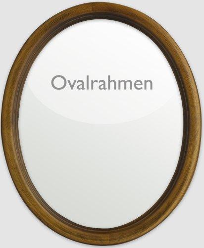 Ovalrahmen en bois 24 x 30 cm-format en bois de noyer avec nussb., or, or noir et naturel Noyer