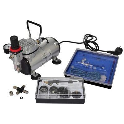 Zerone Airbrush Compresor Set,Airbrush Set Airbrush Set completo Airbrush-Kompressor-Set con 2 pistolas calidad langlebig