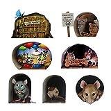 youuu 7 Pz Decalcomania da parete Eco-Friendly Catroon Pattern Carta Soggiorno Animale Wall Decal per la Casa Cucina Sticker Nessun odore per la Casa