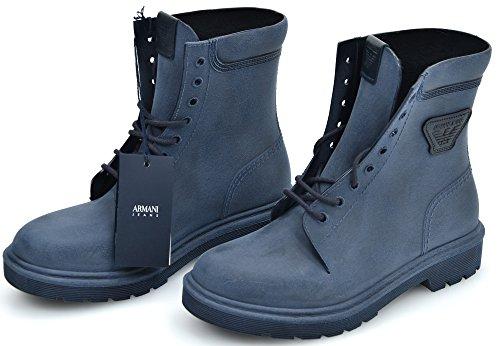 Armani Jeans Enkellaarsje Rubber Blauw Code 935134
