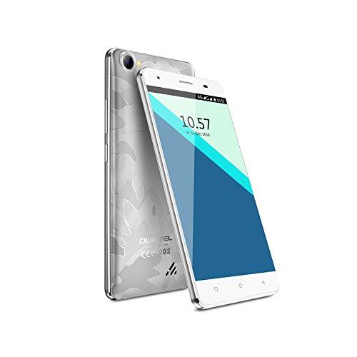 OUKITEL C5 Pro 4G Smartphone stoßfest 5 Zoll HD Display ohne Vertrag (2GB RAM+16GB ROM, Quad-Core CPU, Android 6.0), Silber
