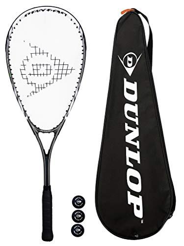 Dunlop Biotec X-Lite Silver Raquette de Squash (Verschiedene Optionen) (Schläger + Balle)
