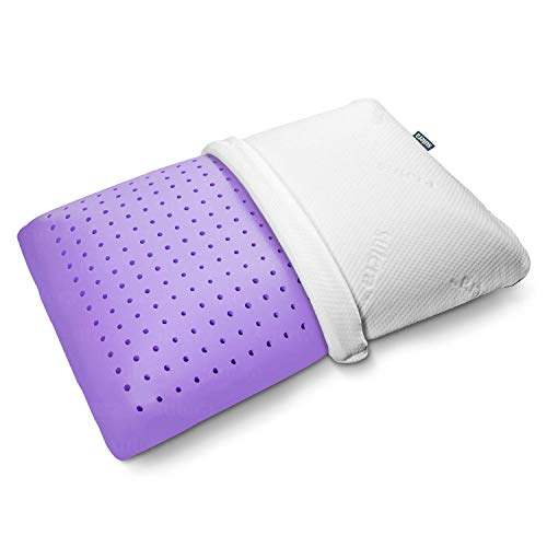 SUTERA Lavender Zen Pillow Adaptive Memory Foam Pillow, Ventilated Cooling Comfort Infused - Lavender Essential Oil Scent for Relaxation