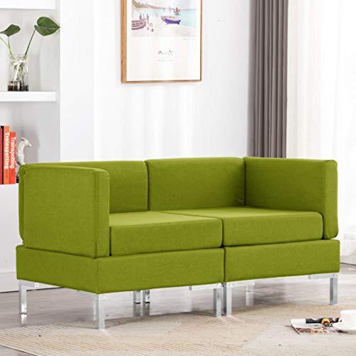 N / A vidaXL Moderner 2-TLG Ecksofas mit Sitzkissen, Lounge Sofa, Polstersofa, Wohnzimmer Liege Lesestuhl Lazy air Sofa, Modulares Sofa, Wohnlandschaft, 130 x 65 x 65 cm
