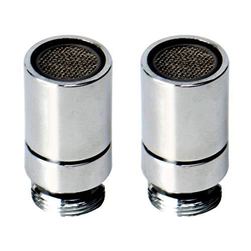 YeVhear - 2 piezas de rotación giratoria de 360 grados de 16 mm para grifo de aireador, grifo universal, grifo aireador, boquilla de repuesto, filtro de agua, adaptador para lavabo de baño, grifo