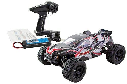 RC Truggy kaufen Truggy Bild 1: XciteRC 30308200 - Ferngesteuertes RC Auto - Truggy one 10 4WD RTR Modellauto M1:10, schwarz*