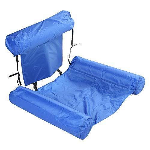 Chanmee Pool Float Bed Lounger Stuhl, verstellbare unverformbare aufblasbare Pool Float Lounger, mit Schaumstoffplatte belüftet(Model with Buoyancy Board (0.6kg))