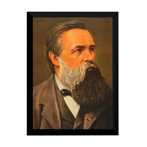 Quadro Arte Friedrich Engels Revolucionário Comunista