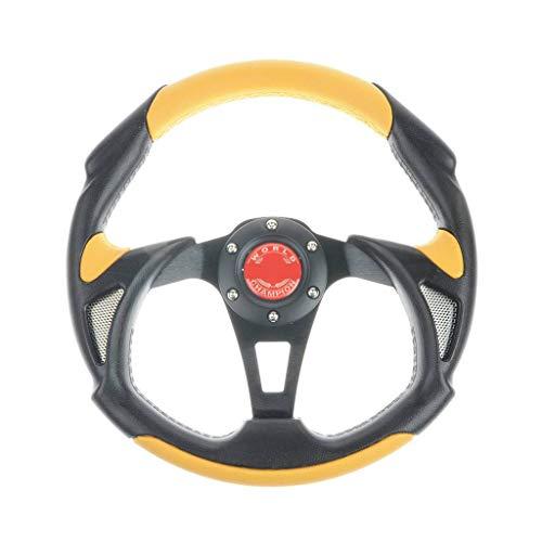 wotefusi Universelle 320Mm PU + PVC Racing Volant Sport avec Bouton De Klaxon