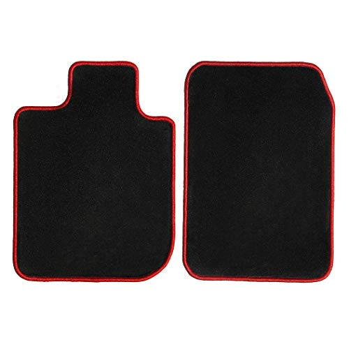GGBAILEY Black with Red Edging Driver & Passenger Floor Mats Custom-Fit for Ferrari 575M 2002-2006