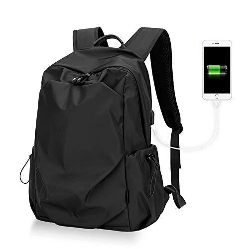 Ai-yixi Mochila de diseño clásico para hombre, de 15,6 pulgadas, para portátil, impermeable, para viaje, para escuela, adolescente, perfecto (color: negro, tamaño: 15 pulgadas)
