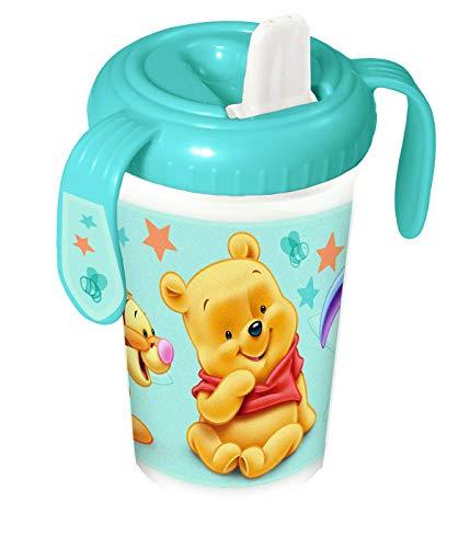 Bicchiere Borraccia Antigoccia Antisoffoco Winnie The Pooh - Celeste