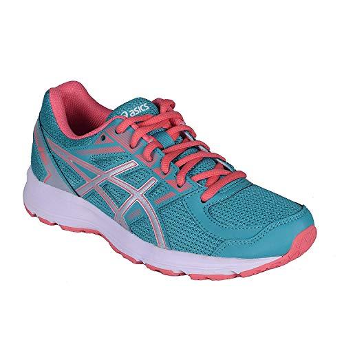 ASICS Womens Jolt Running Shoe Fabric Low, Veridian Green/Silver/Peach, Size 7.5